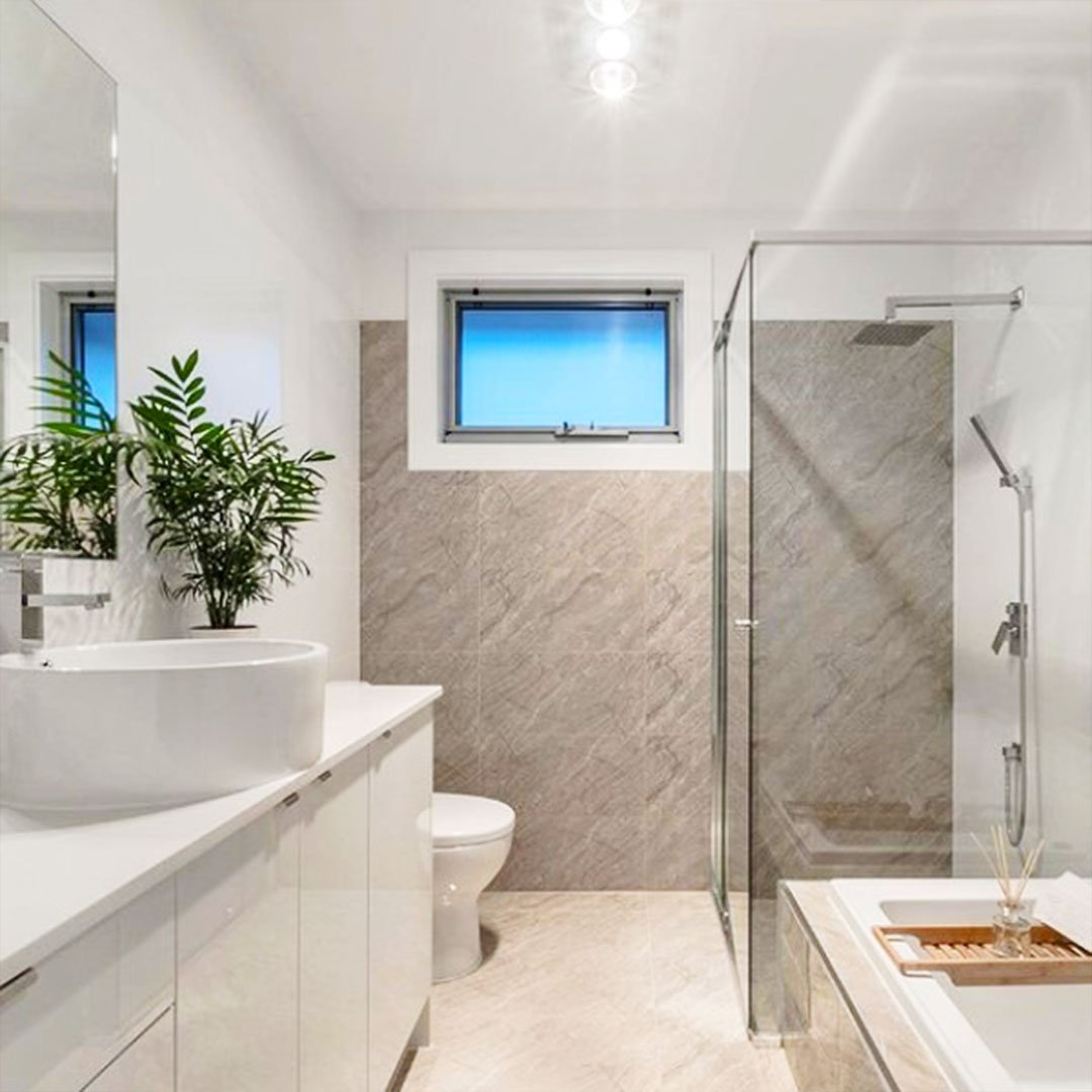 Bathroom tiling work done by Tiles By Tirimacco